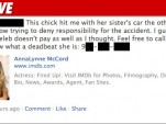 Facebook post re: AnnaLynne McCord [via TMZ]