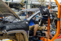 Factory worker assembles a Jeep in Belvidere, Illinois