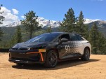 Faraday Future FF 91 during testing for 2017 Pikes Peak International Hill Climb