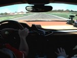 Fernando Alonso drives the Ferrari 458 Italia at Fiorano