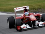 Fernando Alonso in his 2011 Ferrari F1 race car