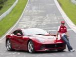 Fernando Alonso and the Ferrari F12 Berlinetta