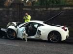Ferrari 458 Italia crashes in Edinburgh, Scotland