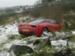 Ferrari 458 Italia crashes in UK