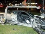 Ferrari 458 Italia that crashed in Munich, Germany. Image courtesy Merkur