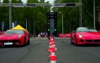 Ferrari F12 Berlinetta Faces The 599 GTO At The Drag Strip: Video