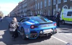 Ferrari F12 tdf driver does massive burnout at Gumball 3000