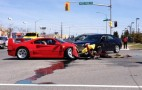Ferrari F40 Loses Head-Butting Contest With Dodge Dart On Test Drive