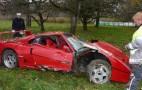Ferrari F40 Suffers Severe Crash In Germany