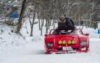 Ferrari F40 tackles the snow