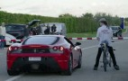 Man On Rocket-Powered Bicycle Sets World Record, Smokes Ferrari In The Process: Video