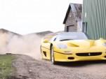 Ferrari F50 plays in the dirt