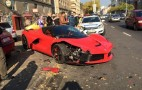 LaFerrari Crashes Into Row Of Parked Cars In Hungary--Updated With Video