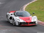 Ferrari LaFerrari testing on the Nordschleife spy shots
