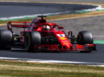 Ferrari's Sebastian Vettel at the 2018 Formula 1 British Grand Prix