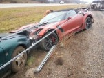 First 2015 Chevrolet Corvette Z06 Convertible crash (Image via Corvette Blogger)