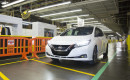 First 2018 Nissan Leaf produced at assembly plant in Smyrna, Tennessee, Dec 2017