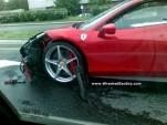 First Ferrari 458 Italia Wrecked In Poland (via Wrecked Exotics)