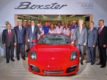First Porsche Boxster to be built at former Karmann plant in Osnabrück, Germany