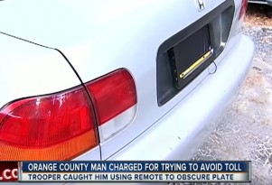 Florida Man uses device to obscure license plate while driving through tolls