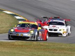 Flying Lizard leads BMW, ALMS GT series. Photo: Anne Proffitt.
