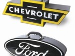 Ford and Chevrolet logo toolboxes