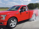 Ford F-150 Lightning by Pioneer Ford doing a burnout