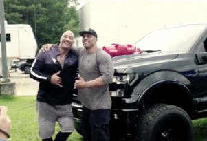 The Rock gifts his stuntman a Ford F-150