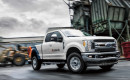 Ford F-250 Super Duty pickup truck fitted with XL Hybrids upfitted hybrid-electric powertrain