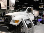 Ford F-750 Class 7 medium-duty work truck, plug-in hybrid conversion by Odyne
