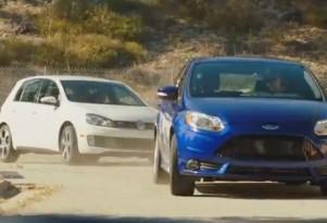 Ford Focus ST versus VW GTI with Ken Block and Vaughn Gittin, Jr.