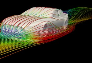 Ford Fusion in CFD - Photo courtesy Ford Racing