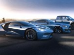 Ford GT, F-150 Raptor and Mustang Shelby GT350R at 2015 Detroit Auto Show