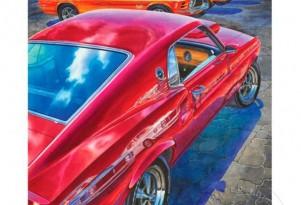 Michael Irvine Studios Release New 'Boss Building' Mustang Print