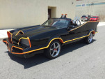 This Batmobile is built on top of a Ford Mustang and it's for sale