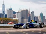 Formula E car in New York City