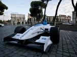 Formula E race car on the streets of Rome