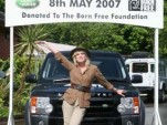 Four millionth Land Rover Joanna Lumley