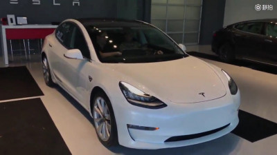 """Frame from delivery video for """"first 2017 Tesla Model 3 in Texas"""""""