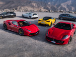 Gathering of modern Ferraris