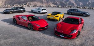 Gathering of modern Ferraris