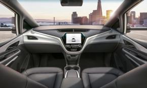 General Motors' Cruise AV self-driving car has no steering wheel or pedals