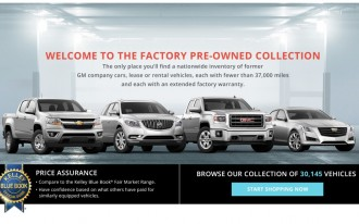 GM Factory Pre-Owned Collection Website Takes Used Car Salespeople (Mostly) Out Of The Equation