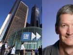 GM's Renaissance Center and Tim Cook, Apple COO