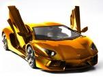 Gold, platinum and diamond encrusted Lamborghini Aventador LP 700-4 model