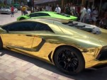 Gold-wrapped Lamborghini Aventador LP 700-4 unveiled by Lamborghini Miami