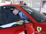 Gordon Ramsay at Ferrari's home in Maranello, Italy