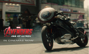Harley-Davidson Livewire electric motorcycle in The Avengers movie