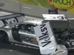 Heikki Kovalainen's crash during the 2010 Race of Champions