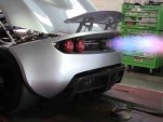 Hennessey Venom GT shoots fire on the dyno
